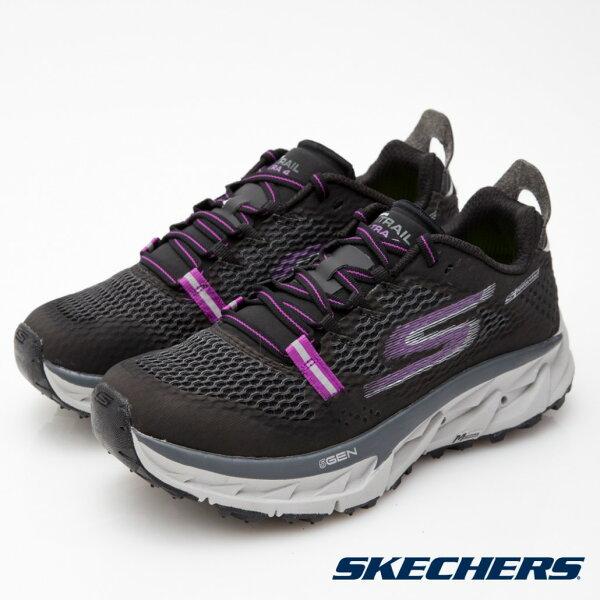 【SKECHERS促銷95折│全店免運】SKECHERS(女)GOTrailUltra4跑步系列黑紫-14111BKPR