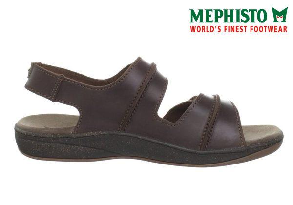 Mephisto 皮革 雙黏帶涼鞋 咖啡 3