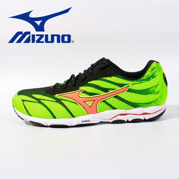 【全店點數15倍送】Mizuno 男路跑鞋 WAVE HITOGAMI 3 綠