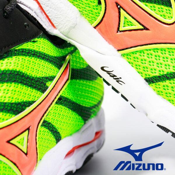 【MIZUNO 5折 │全店免運】MIZUNO  男路跑鞋 WAVE HITOGAMI 3 綠 5
