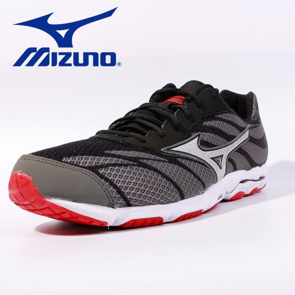 Mizuno 男路跑鞋 WAVE HITOGAMI 3 黑 1