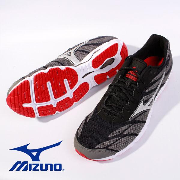 Mizuno 男路跑鞋 WAVE HITOGAMI 3 黑 4