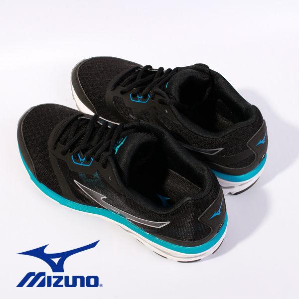 Mizuno 休閒慢跑鞋 男 藍黑 4