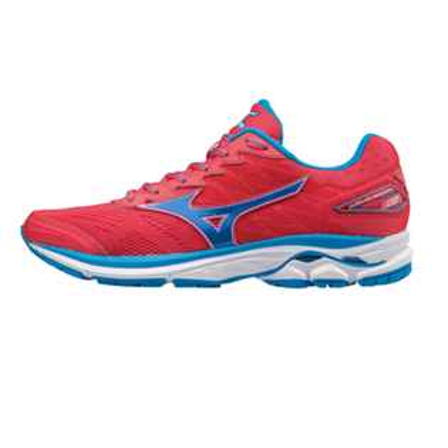 【MIZUNO促銷7折│全店免運】MIZUNO(女)WAVERIDER20暢銷款女慢跑鞋紅藍-J1GD170329