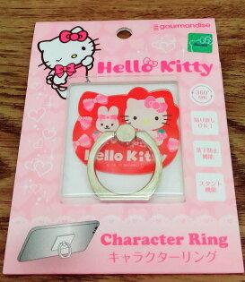 【真愛日本】17121000062大臉造型壓克力指環-KT兔兔紅三麗鷗KITTY手機指環扣支架指環扣