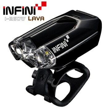【7號公園自行車】INFINI LAVA I-260W 高亮度LED前燈 黑色 USB充電