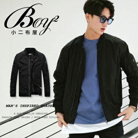☆BOY-2☆【ND4009】潮流素面硬挺防風飛行外套 1