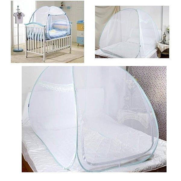 自彈魔術兒童蒙古包可折疊嬰兒蚊帳加密寶寶蚊帳 80 X 120 cm