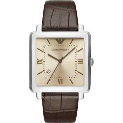 EMPORIO ARMANI 亞曼尼 AR11098 時尚簡約懷舊腕錶/咖啡面38mm