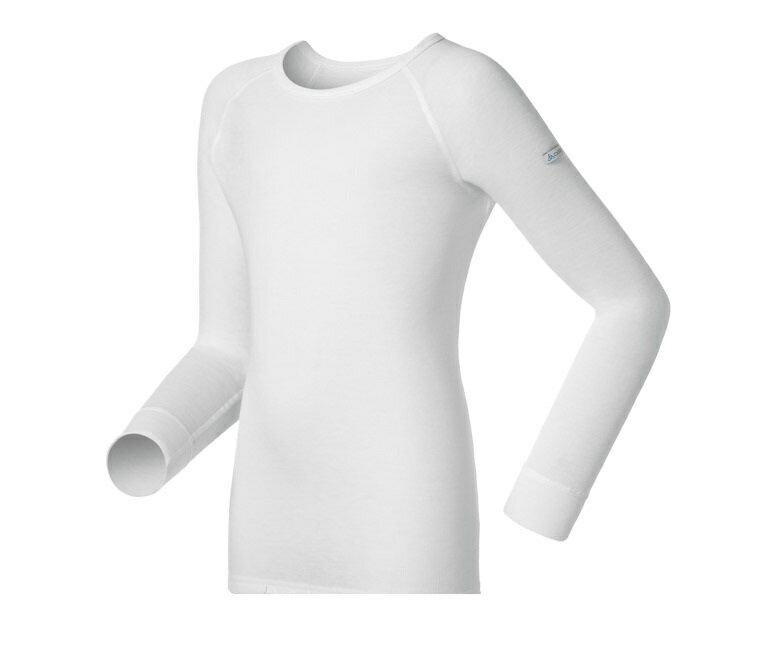 【【蘋果戶外】】odlo 10459 童衣 白『送雪襪』瑞士 機能保暖型排汗內衣 衛生衣 發熱衣 保暖衣 長袖