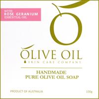 Olive Oil♪玫瑰天竺葵初榨橄欖手工皂