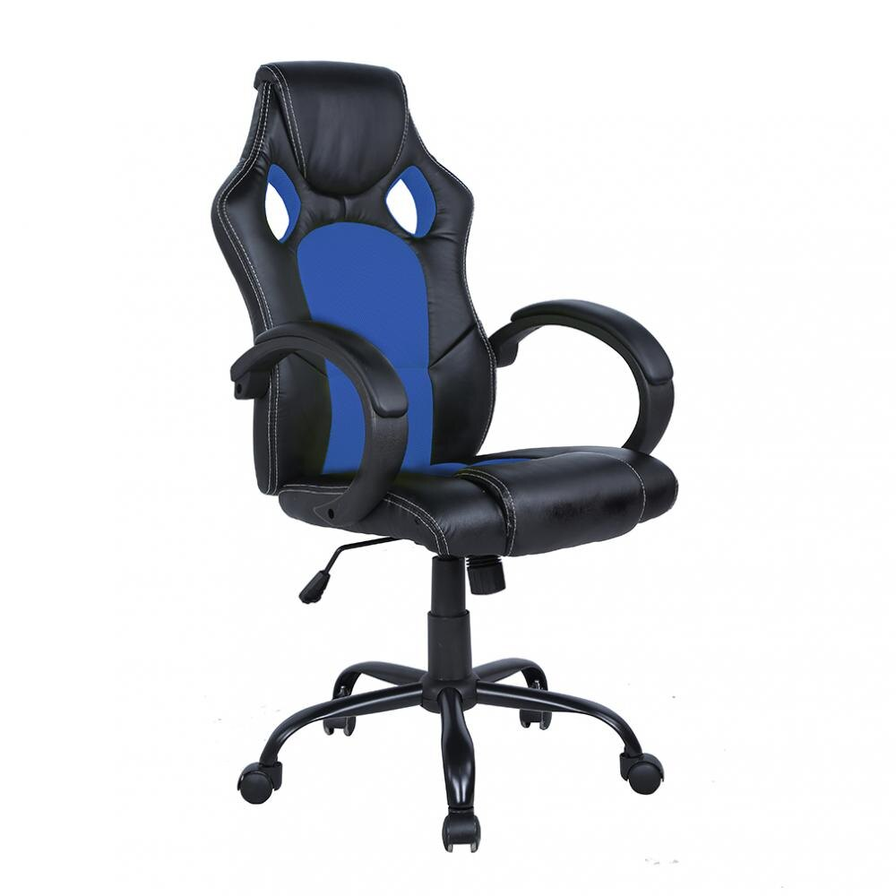 Groovy High Back Executive Bucket Seat Racing Style Chair Blue Forskolin Free Trial Chair Design Images Forskolin Free Trialorg