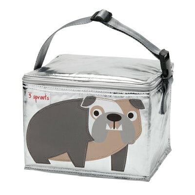【淘氣寶寶】加拿大 3 Sprouts 午餐袋-鬥牛犬【 保溫效果,貼心扣環 23 cm寬*17cm高*18cm深】【 貨】