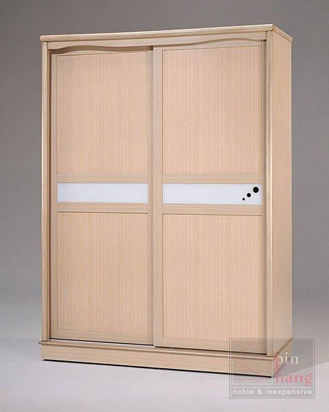 【尚品家具】GF-C01 貝拉白橡5尺推門衣櫃衣櫥~另有胡桃色~台灣製造
