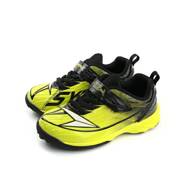 瞬足 SYUNSOKU 運動鞋 足球鞋 魔鬼氈 好穿 黃色 黑色 童鞋 ESJJ3951 no424