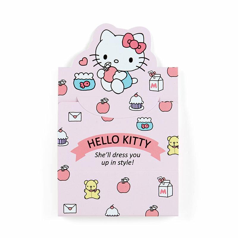 凱蒂貓kitty 日本製 可立 自黏便籤 蘋果 F54 便條紙 記事 紙張 紙 便利貼 文具 真愛日本