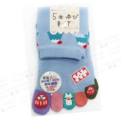 日本進口立體腳跟五趾襪 富士山【銀站】