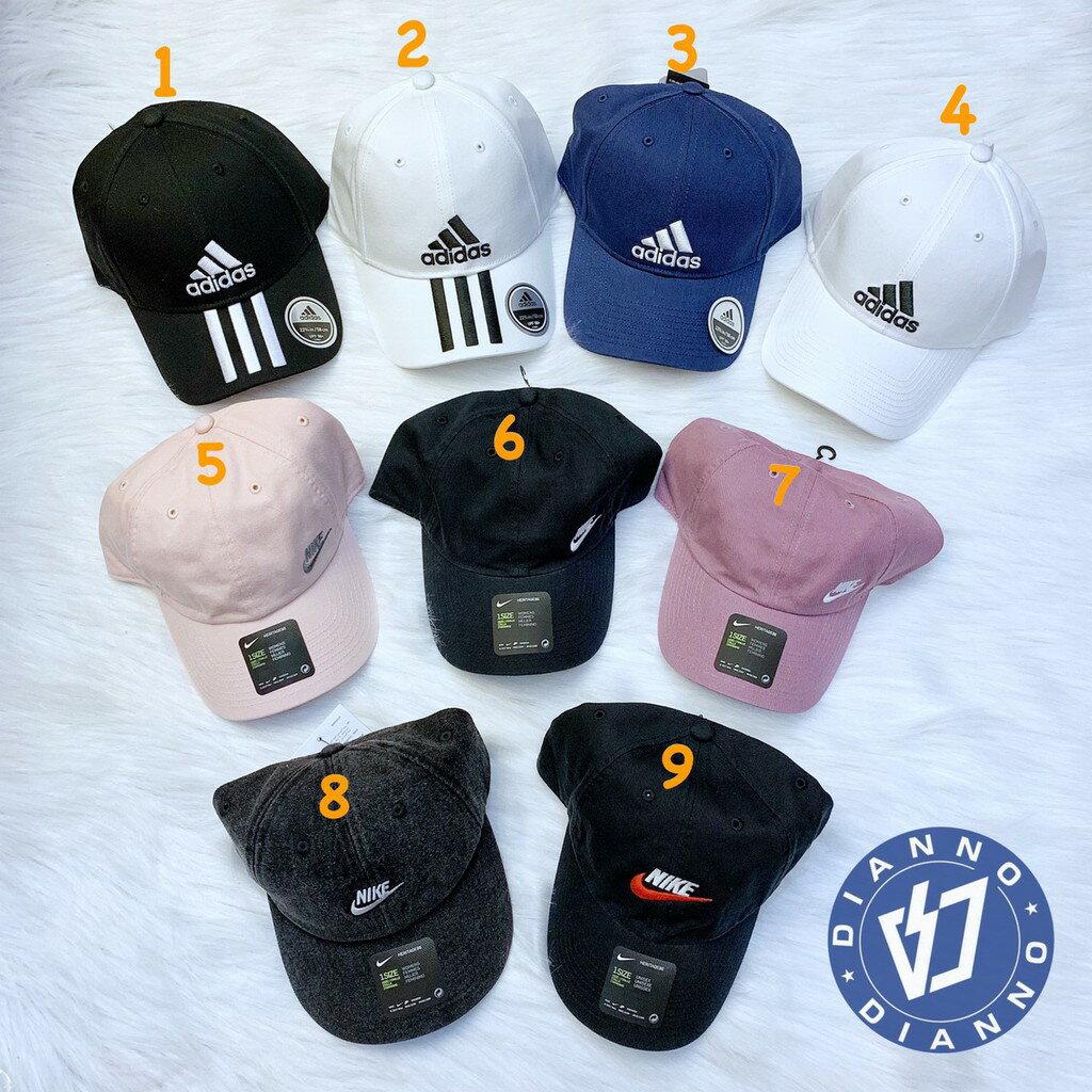 帝安諾-ADIDAS CAP NIKE 經典三線 刺繡 老帽 鴨舌帽 黑DU0196 / 白DU0197
