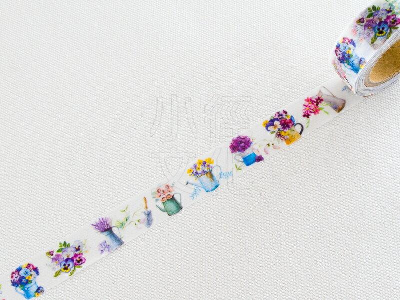*小徑文化*韓國原創 Kamito 花系列 和紙膠帶 - 小花盆 ( CRM025 )