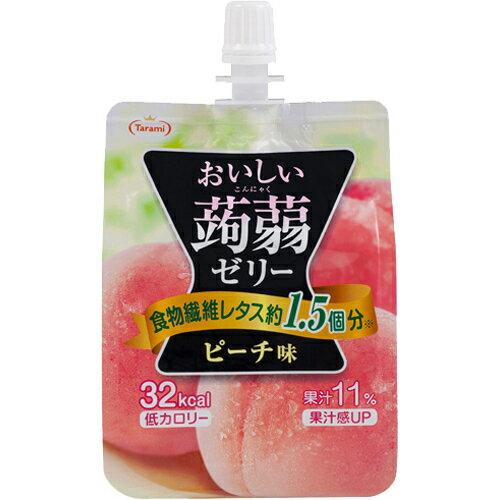 Tarami達樂美吸管蒟蒻果凍-水蜜桃(150g) おいしい蒟蒻ゼリー