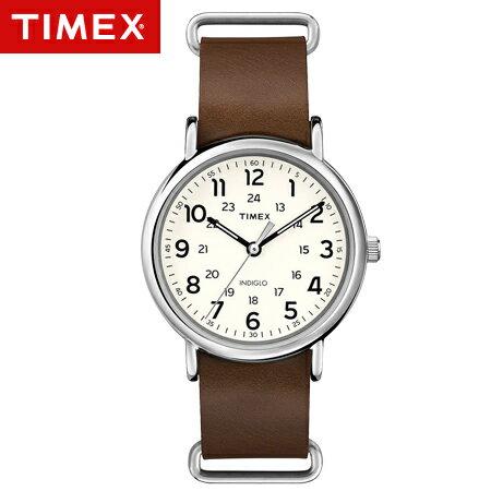 TIMEX天美時腕錶 經典復刻冷光Weekender系列咖啡皮革手錶 柒彩年代【NE1672】原廠公司貨 0