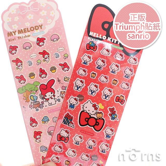 NORNS【正版Triumph貼紙 sanrio】Hello Kitty  Melody mini美樂蒂