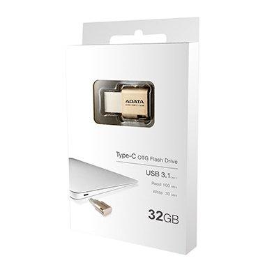【新風尚潮流】威剛UC350 32GB Macbook type-C OTG手機電腦兩用隨身碟 AUC350-32G