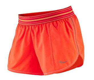 [陽光樂活] Saucony 索康尼 女 慢跑短褲 透氣 運動 吸濕排汗 SY81422-VPE 橘
