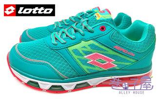 【巷子屋】義大利第一品牌-LOTTO 女款AERO elite頂級雙重避震全氣墊跑鞋 [2555] 松石綠 超值價$690