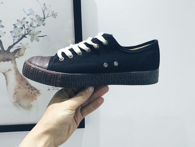 FINDSENSE Z1 日系 時尚 街頭 潮 男女情侶鞋 綁帶 經典黑白色 低幫 帆布鞋 休閒鞋 板鞋