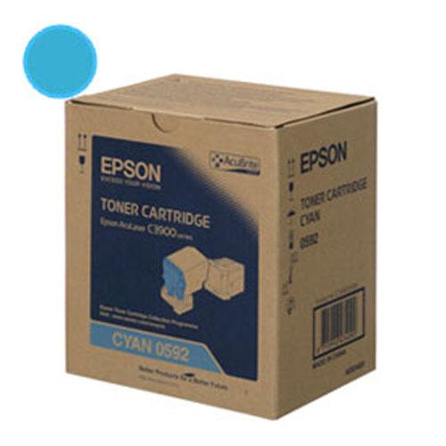 【EPSON 碳粉匣】S050592 青色原廠碳粉匣 C3900/CX37