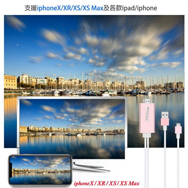 【AL08D玫瑰金】二代MiraCast蘋果專用 HDMI鏡像影音線(加送3大好禮)