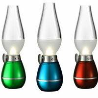 【 樂客生活 】吹控式複古LED感應煤油燈USB充電床頭台燈小夜燈