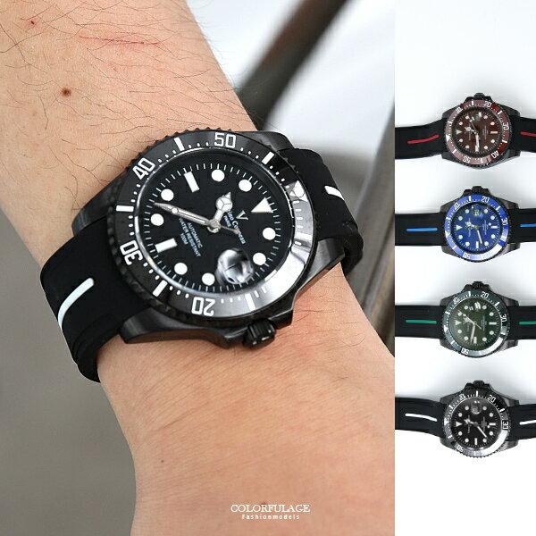 范倫鐵諾˙古柏運動夜光橡膠手錶柒彩年代【NEV48】正品原廠公司貨