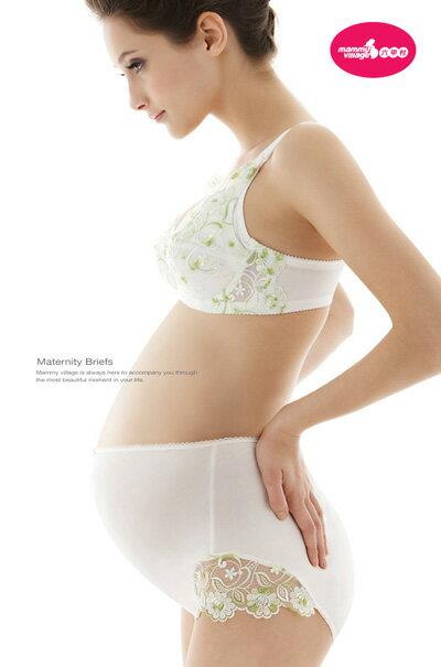 六甲村 - 高彈性蕾絲孕婦褲 (荷風綠) 2