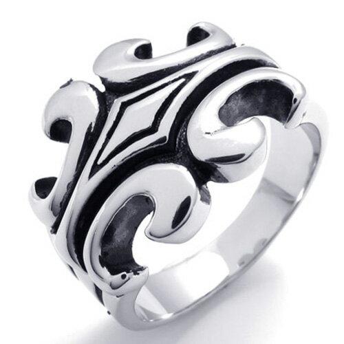 QBOX Fashion 飾品:《QBOX》FASHION飾品【R10019849】精緻個性復古十字架鑄造316L鈦鋼戒指戒環