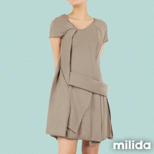 【Milida,全店七折免運】-夏季尾聲-素色款-厚棉立體造型設計 8