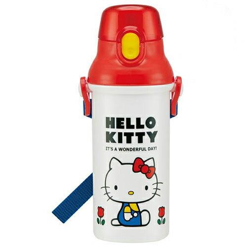 日本【Skater】Hello Kitty 直飲冷水壺 / 白 (480ml) - 限時優惠好康折扣