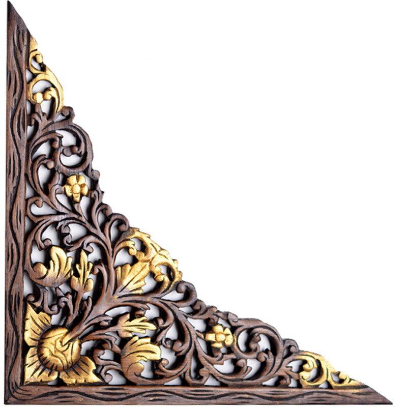 泰國進口柚木雕花門楣 門楣裝飾中式 門頭裝飾鏤空雕花木雕裝飾品