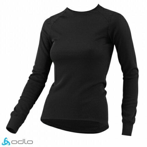 ├登山樂┤瑞士ODLO機能保暖型排汗內衣女黑#152021-15000
