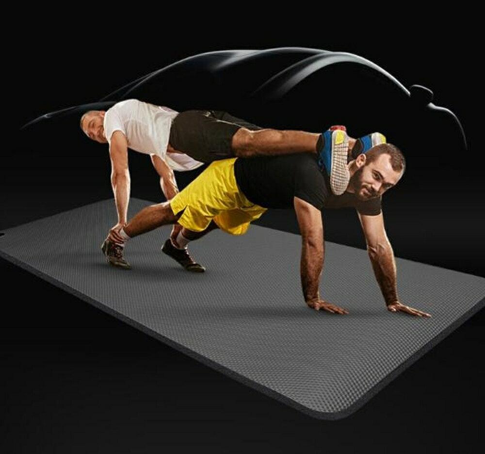 男士健身墊加厚加寬加長瑜伽墊初學者運動墊子仰臥起坐瑜珈毯防滑 新春鉅惠