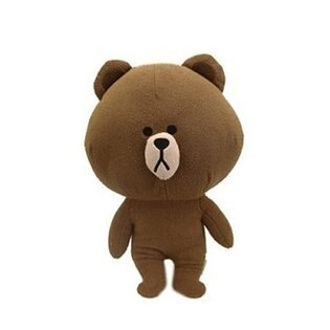 【真愛日本】14061800005LINE站姿娃35CM-熊大日本限定景品娃娃line熊大brown布偶娃娃