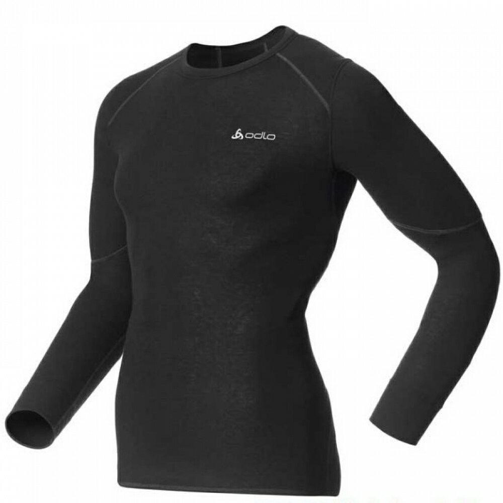 【【蘋果戶外】】odlo 155162 男 背部加強保暖 黑『送耳罩』X-WARM Effect 保暖升級 機能型銀離子 長袖排汗衣 保暖衣 衛生衣