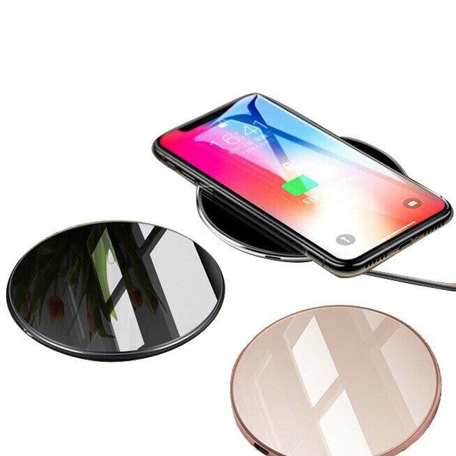 ONAIR 鋁合金鏡面 無線充電器 QI 無線閃充 快充 鋼化玻璃 充電板 充電盤 三星 XS XR iX i8