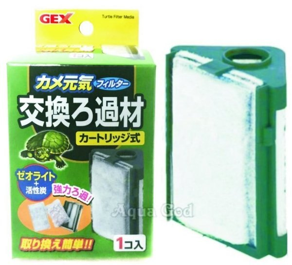 推薦【水族達人】【過濾器】日本GEX《烏龜專用過濾器替換濾棉1入G-115-1》爬蟲底沙鬃獅蜥飛蜥蝪