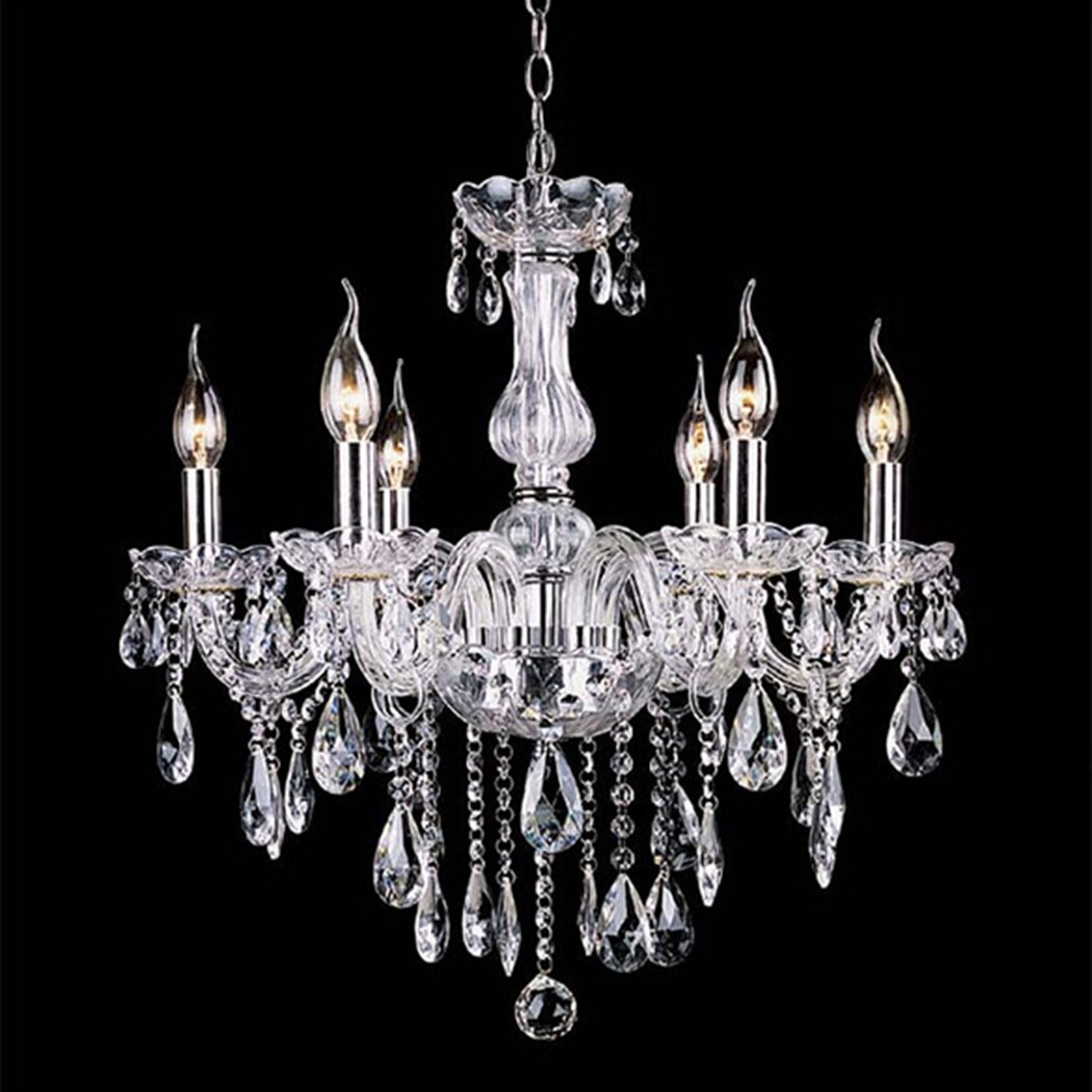 Crystal Lamp Fixture Pendant Light Ceiling Chain Candle Chandelier 4