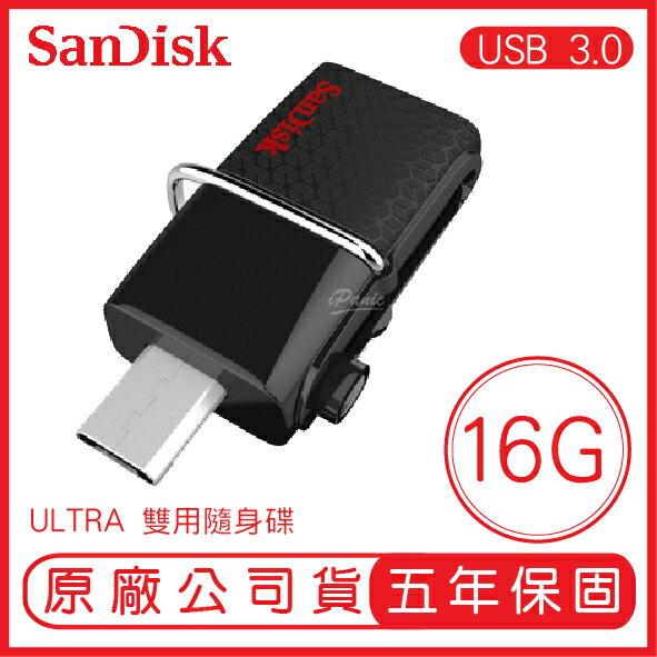 SANDISK 16G ULTRA SDDD2 MICRO OTG 130MB USB3.0 雙用隨身碟 16GB
