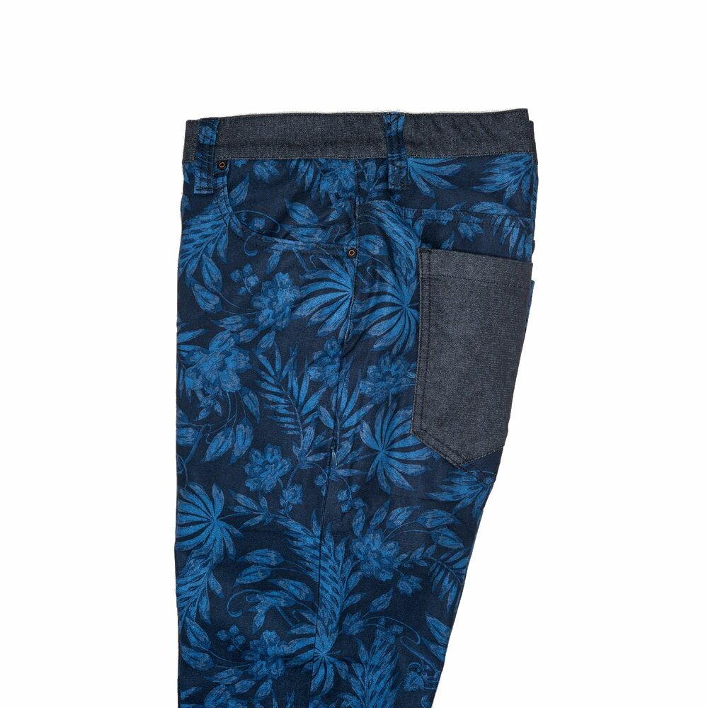 機能保暖暗藍花紋修身九口袋休閒長褲 TOKYO CLASSIC NIGHT FLOWER 9 POCKETS (SlimFit) 3