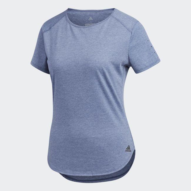 《限時特價↘7折免運》ADIDAS Response Soft Tee 女裝 上衣 短袖 慢跑 排汗 透氣 藍【運動世界】CF2124