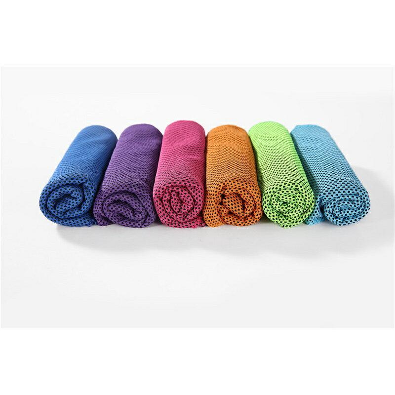 冷感運動毛巾男健身女戶外冰感吸汗冰涼巾跑步旅行速干降溫手腕巾